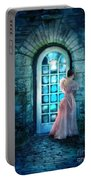 Young Woman Alone In Pink Gown  Portable Battery Charger