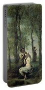 Young Woman At Her Toilet Portable Battery Charger