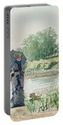Young Woman Portable Battery Charger by Winslow Homer