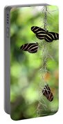 Zebra Butterflies Hanging Out Portable Battery Charger