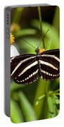 Zebra Longwing And Flowers Portable Battery Charger