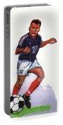 Zinedine Zidane 01 Portable Battery Charger