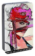 # 39 Charlize Theron Portrait Portable Battery Charger