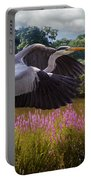 A Heron Flies Portable Battery Charger