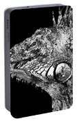 Black And White Iguana Art - One Cool Dude 2 - Sharon Cummings Portable Battery Charger