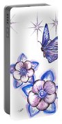 Butterfly Amongst The Flowers Portable Battery Charger