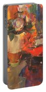 Clarice Cliff Rose Table  Portable Battery Charger