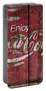 Coca Cola Sign Barn Wood Portable Battery Charger