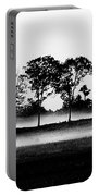 Evening Mist Black And White Portable Battery Charger