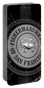 Fisherman's Wharf San Francisco-horizontal In Bw Portable Battery Charger