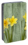 Fresh Spring Daffodils Portable Battery Charger