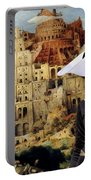 Galgo Espanol - Spanish Greyhound Art Canvas Print -the Tower Of Babel  Portable Battery Charger