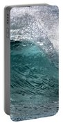Green Cresting Wave, Hawaii Portable Battery Charger