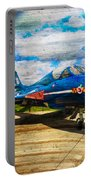 Hawker Hunter T7 Aircraft On Wood Portable Battery Charger