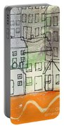 Houses By The River Portable Battery Charger by Linda Woods