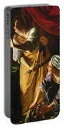 Judith And Maidservant With The Head Of Holofernes Portable Battery Charger by Artemisia Gentileschi