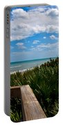 Melbourne Beach On The East Coast Of Florida Portable Battery Charger