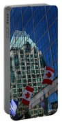Modern Architecture - City Reflection Vancouver  Portable Battery Charger