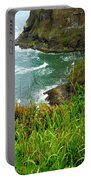 Oregon's Seaside Cliffs In Springtime Portable Battery Charger