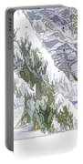 Pine Branch Tree Under Snow Portable Battery Charger
