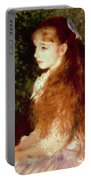 Portrait Of Mademoiselle Irene Cahen D'anvers Portable Battery Charger