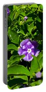 Purple Flowers In Pilgrim Place In Claremont-california Portable Battery Charger