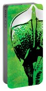 Rhino Animal Decorative Green Poster 6 - By  Diana Van Portable Battery Charger