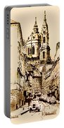 St. Nicholas Church In Prague Portable Battery Charger