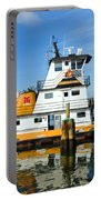 Tug Indian River Is Part Of The Scene At Port Canvaeral Florida Portable Battery Charger