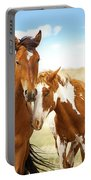 Wild Herd Of Mustang Horses Portable Battery Charger