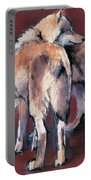 Wolf Composition Portable Battery Charger