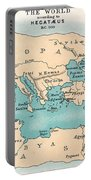 World Map: 500 B.c Portable Battery Charger