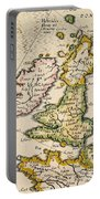 Map Of Great Britain, 1623 Portable Battery Charger
