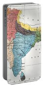 India: Map, 19th Century Portable Battery Charger