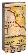 Kansas-nebraska Map, 1854 Portable Battery Charger