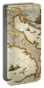 Map Of Italy, 1631 Portable Battery Charger