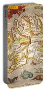 Iceland: Map, 1595 Portable Battery Charger