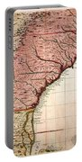 Colonial America Map, 1733 Portable Battery Charger