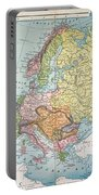 Map: Europe, 1885 Portable Battery Charger