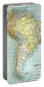 South America: Map, C1890 Portable Battery Charger