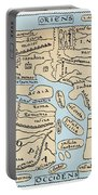 World Map 2nd Century Portable Battery Charger