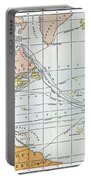 Map: Atlantic Voyages Portable Battery Charger