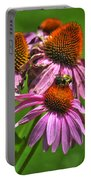 01 Bee And Echinacea Portable Battery Charger