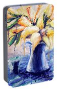 01353 Daffodils Portable Battery Charger