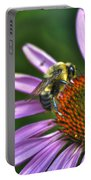 02 Bee And Echinacea Portable Battery Charger