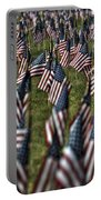 03 Flags For Fallen Soldiers Of Sep 11 Portable Battery Charger