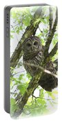 0304-002 - Barred Owl Portable Battery Charger