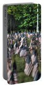 06 Flags For Fallen Soldiers Of Sep 11 Portable Battery Charger