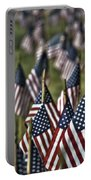 07 Flags For Fallen Soldiers Of Sep 11 Portable Battery Charger