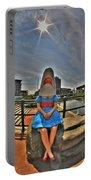 07 Shark Girl Portable Battery Charger